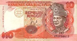 MALAYSIA 10 RINGGIT ND (1989) B29A AU/UNC  [MY129b] - Malaysia