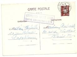 ENTIER POSTAL 1,20F PETAIN 515 CP1 CP DU MAROC POUR LA FRANCE GRIFFE CASABLANCA BOURSE AVION