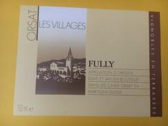 4254 - Les Villages Fully  Valais Suisse - Etiquettes