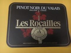4258 - Les Rocailles Pinot Noir Valais Suisse - Etiquettes