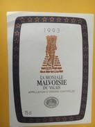 4259 - Malvoisie La Moniale 1993 Valais Suisse - Etiquettes