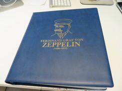 FERDINAND GRAF ZEPPELIN 1838 - 1907 MOTIV-SLG. SONDERSACHEN VIGNETTEN Mit MARKEN Und BELEGE Auf VORDRUCKSEITEN Im BINDER