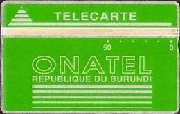 BUR-02E : 50u Green 711D ( As New)  Only 5000 Printed - Burundi