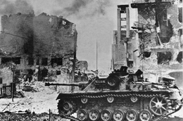 Militaria WW2 - Pologne - Char Allemand Dans Le Ghetto De Varsovie - 1939-45