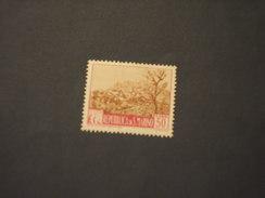 SAN MARINO - 1949/50 PIANTA  L. 50 - NUOVO(++)