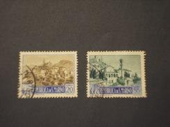 SAN MARINO - 1949/50 VEDUTE  L. 20 - L. 55 - TIMBRATI/USED