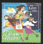 RJ) 2017 MEXICO, MOTHER'S DAY, CHILDREN, BEAR, BIRD, COMPUTER, AIRPLANE, DAY, NIGHT, MNH - México