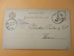 Wien Austria Szolnok Hungary Postcard 1881 - Hungría