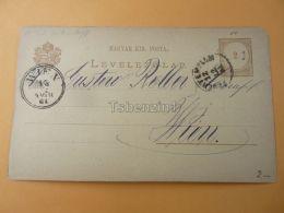 Wien Austria Fehértemplom Bela Crkva Serbia Hungary Postcard 1881 - Serbien