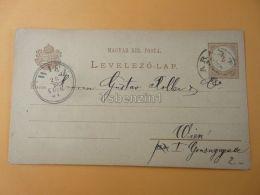 Wien Austria Arad Moritz Klein & Sohn Romania Hungary Postcard 1881