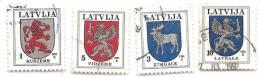 Latvia  / Lettonia  - LOGO SMALL CITY  -1994 Year  SET Stamps - O - Latvia