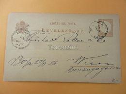 Wien Austria Baja Hungary Postcard 1881