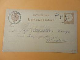 Wien Austria Pancsova Pancevo Serbia Hungary Postcard 1881 - Serbien