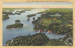 New York Thousand Islands Seen From The Air Curteich