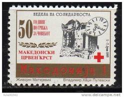1995 79  MACEDONIA  CROCE ROSSA RED CROSS MAKEDONIEN OROLOGERIA NEVER HINGED