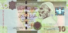 LIBYA 10 DINARS ND (2009) P-73a UNC [LY537a] - Libië