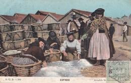 Carte Postale : Espinho  (Portugal) Salage Du Poisson 1 - Belle Scène   SCD N° 109     Arnaldo Soares - Portugal