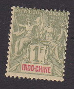 Indo-China, Scott #20, Mint Hinged, Navigation And Commerce, Issued 1892 - Indocina (1889-1945)