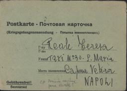 Guerre 39 45 Carte Avis Capture Bilingue Allemand Russe Soldat Italien Prisonnier Front De L'est Franchise Militaire FM