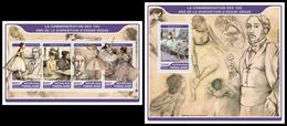 TOGO 2017 - Edgar Degas, M/S + S/S. Official Issue. - Togo (1960-...)