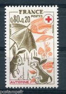 FRANCE, 1975, Timbre 1861, CROIX ROUGE, LAPINS, AUTOMNE, Neuf**
