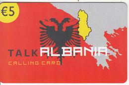 GREECE - Talk Albania, Altec Telecoms Prepaid Card 5 Euro, Tirage 20000, Exp.date 31/12/05, Sample