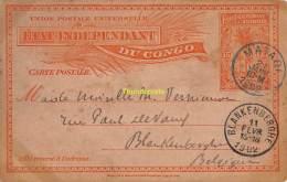 POSTALE UNIVERSELLE CPA CONGO 1902 MATADI BLANKENBERGHE