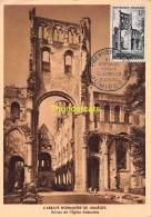 CARTE MAXIMUM FRANCE 1954 L'ABBAYE NORMANDE DE JUMIEGES  CARTE POPSTALE 1ER JOUR - Maximumkaarten