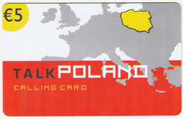 GREECE - Talk Poland, Altec Telecoms Prepaid Card 5 Euro, Tirage 10000, Exp.date 31/12/05, Sample