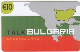 GREECE - Talk Bulgaria, Altec Prepaid Card 10 Euro, Tirage 2000, Exp.date 31/12/05, Sample