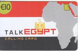 GREECE - Talk Egypt, Altec Telecoms Prepaid Card 10 Euro, Tirage 5000, Exp.date 31/12/05, Sample