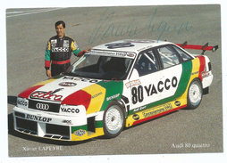 CPM Championnat De France Supertourisme 1990 Audi 80 Quatro Xavier Lapeyre Pilote Avec Sa SIGNATURE ORIGINALE - Rally Racing