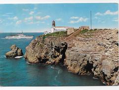 PORTUGAL- Sagres -Farol Do Cabo S. Vicente E Navio A Navegar. - Faro