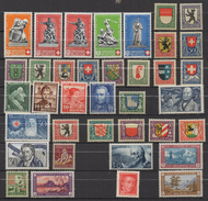 P521. SWITZERLAND. 1926/1941- PROJUVENTUTE - MH COMPLETE SETS STAMPS LOT X 37. SCV: US$ 36.00++