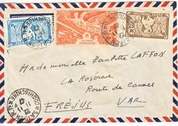 FRENCH INDOCHINE  COVER  SAIGON-PARIS  1947 - Indochina (1889-1945)