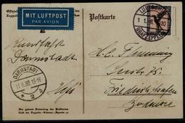 GERMANY 1930 POSTCARD ZEPPELINS FLIGHT IN 1930 FROM  GERMANY VF!!