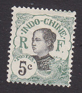 Indo-China, Scott #44, Mint Hinged, Woman Of Indo-China, Issued 1907 - Indochina (1889-1945)