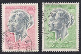 MONACO - 1966 - Lotto Formato Da Due Valori Usati Posta Aerea Yvert 87 E 88.