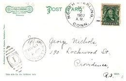 Connecticut  North Sterling  DPO 4 , 1907 Cancel - Souvenirs & Special Cards