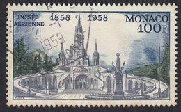 MONACO - 1958 -  Yvert Posta Aerea 69 Usato, 100 F.