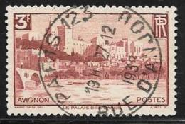France, Scott # 344 Used Palace Avignon, 1938