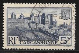 France, Scott # 345 Used Carcassonne, 1938
