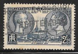 France, Scott # 374 Used Niepce, Mande, 1939