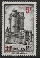 France, Scott #412 Mint Hinged Vincennes, Surcharged, 1941