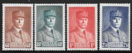 France, Scott #415-8 Mint Hinged Petain, 1941