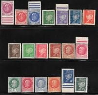 France, Scott #427-47 Mint Hinged Set Marshal Petain, 1941-2