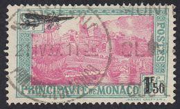 MONACO - 1933 -  Yvert Posta Aerea 1 Usato - 1,50 F Sovrastampato Su 5 F. - Poste Aérienne