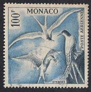 MONACO - 1957 -  Yvert Posta Aerea Yvert 66 Usato, 100 F, Ardesia E Oltremare.