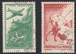 MONACO - 1941 - Lotto Formato Da Due Valori Usati Posta Aerea Yvert 2 E 5.