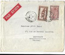 Maroc  Lettre Par Avion Du 02  10  1939  De Casablanca  Vers Marseille - Marokko (1891-1956)